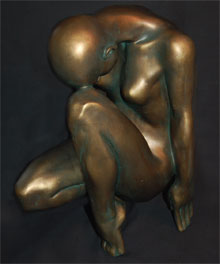 Contemplation Bronze Colour